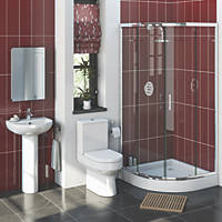 Walker Contemporary Quadrant Shower Enclosure Bathroom Suite