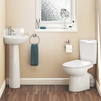 Spacesaver 1 Tap Hole Wall-Mounted Corner Cloakroom Suite