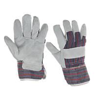 Keep Safe  Canadian Rigger Gloves Grey Large