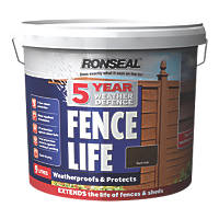 Ronseal 5 Year Weather Defence Fence Life Dark Oak 9Ltr