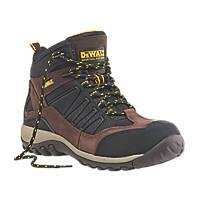 DeWalt Slide Safety Trainer Boots Brown / Black Size 9