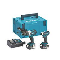 Makita DLX2005MJ 18V 4.0Ah Li-Ion LXT  Cordless Combi Drill & Impact Driver Twin Pack