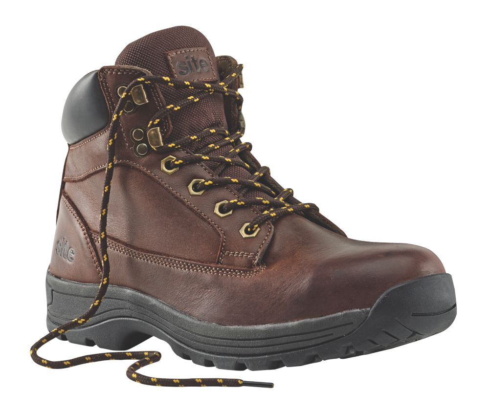 Site Milestone Safety Boots Brown Size 10