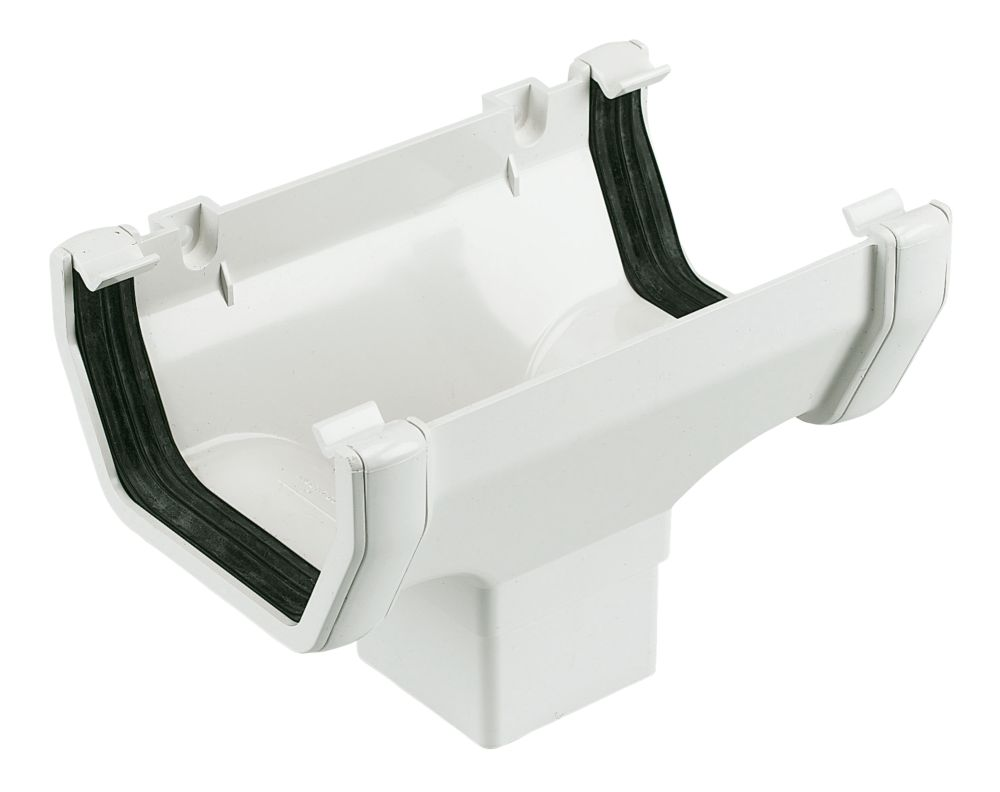 Square Line Running Outlet 114mm White