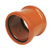 FloPlast Underground Pipe Coupling Double Socket 110mm