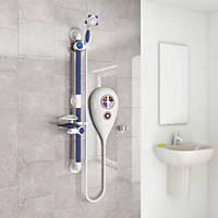 AKW Luda Thermostatic Electric Shower White 8.5kW