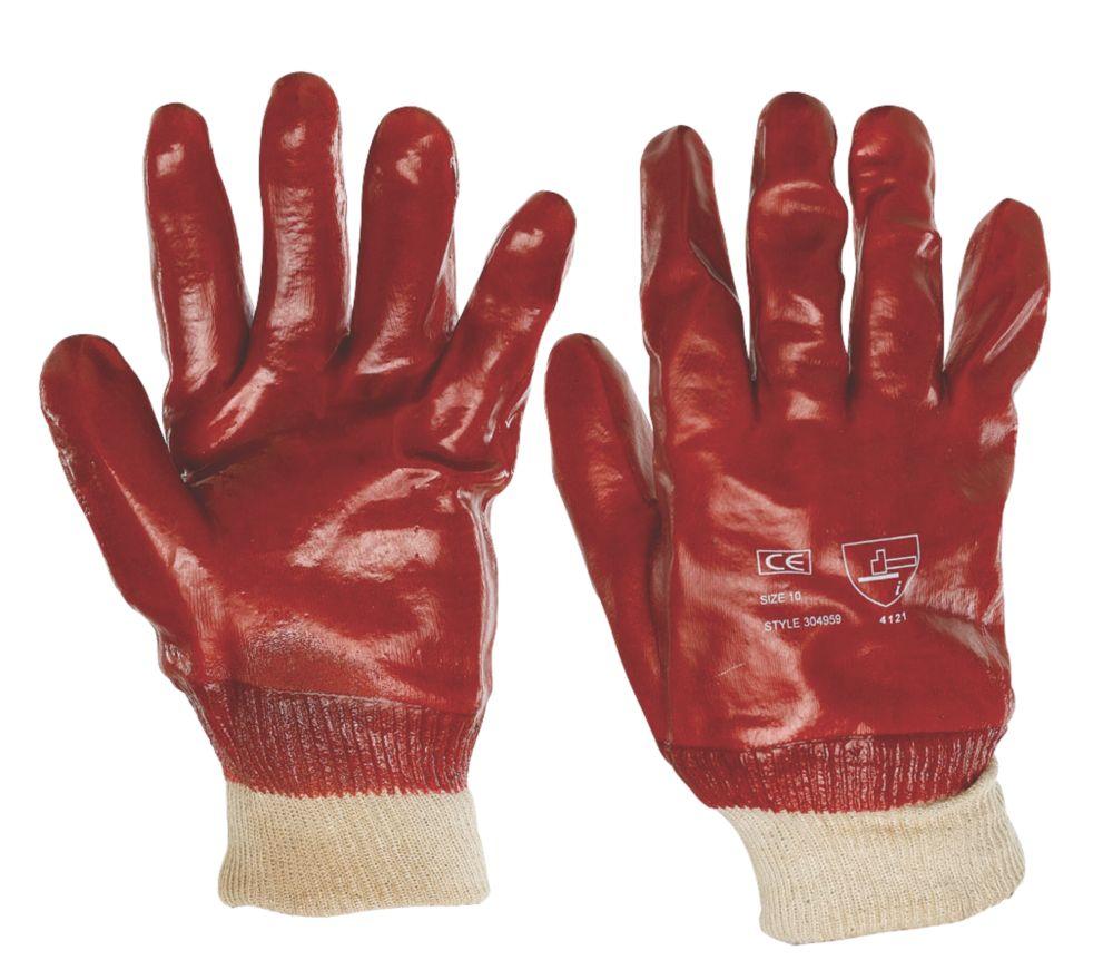 General Handling PVC Gloves Red Large