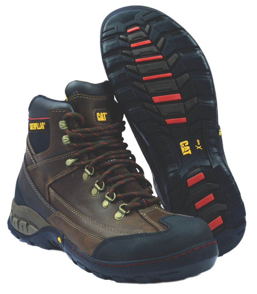 Caterpillar Dynamite Brown Safety Boots Size 12