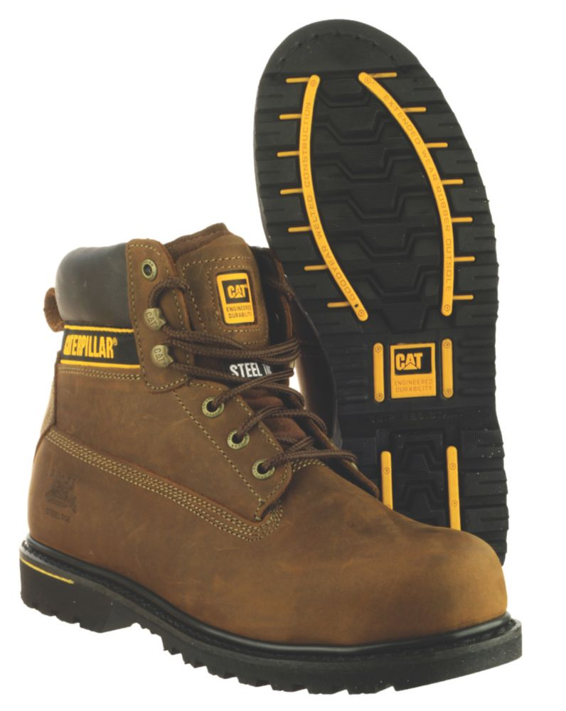 Caterpillar Holton S3 Brown Safety Boots Size 10
