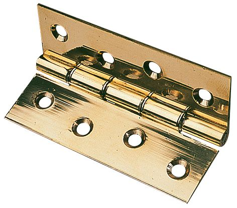 Washered Hinge Polished Brass 76 x 51mm 1Pr