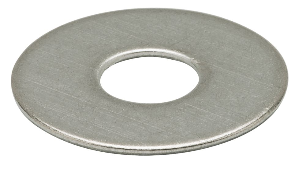 Large Flat Washers BZP, M6 Pack of 10