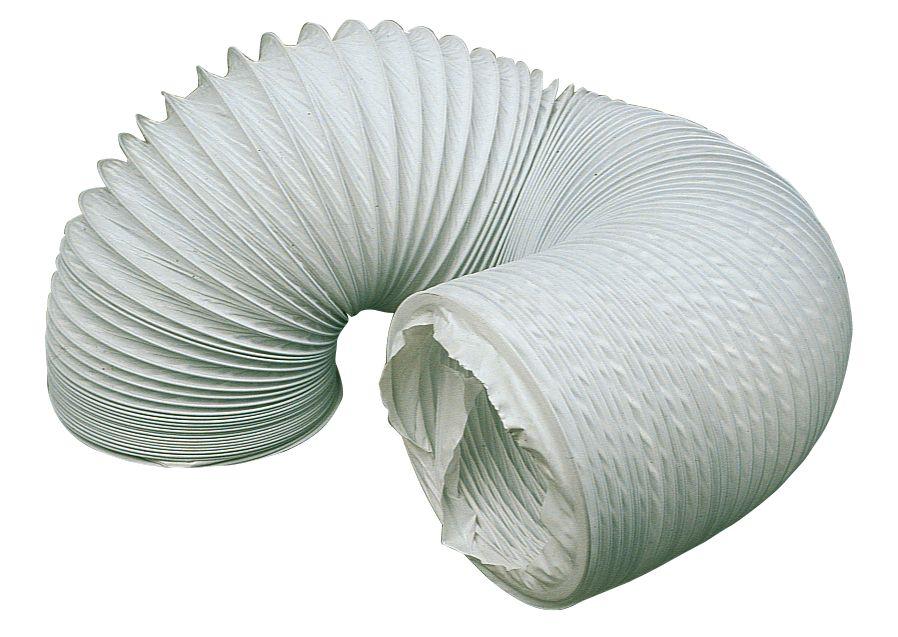 Manrose PVC White 3m x 100mm Ducting Hose
