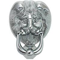 Fab & Fix Lions Head Door Knocker Hardex Chrome 98 x 136mm