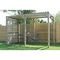 Grange Urban Garden Pergola Pressure-Treated Green 1.8 x 1.8 x 2.4m