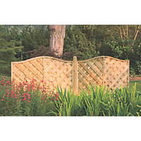 Forest Strasburg Fence Panel Fence Panels 1.8 x 1.2m 5 Pack
