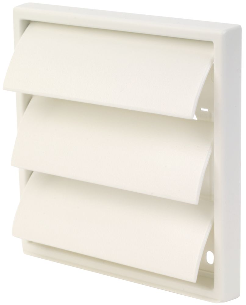 Manrose Square White 100mm Flap Vent