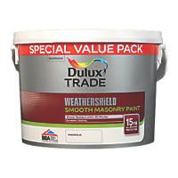 Dulux Trade Weathershield Masonry Paint Magnolia 7.5Ltr