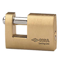 Cisa Brass Slide Bolt Shackle Padlock 90mm