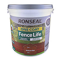 Ronseal One Coat Fencelife Medium Oak 9Ltr