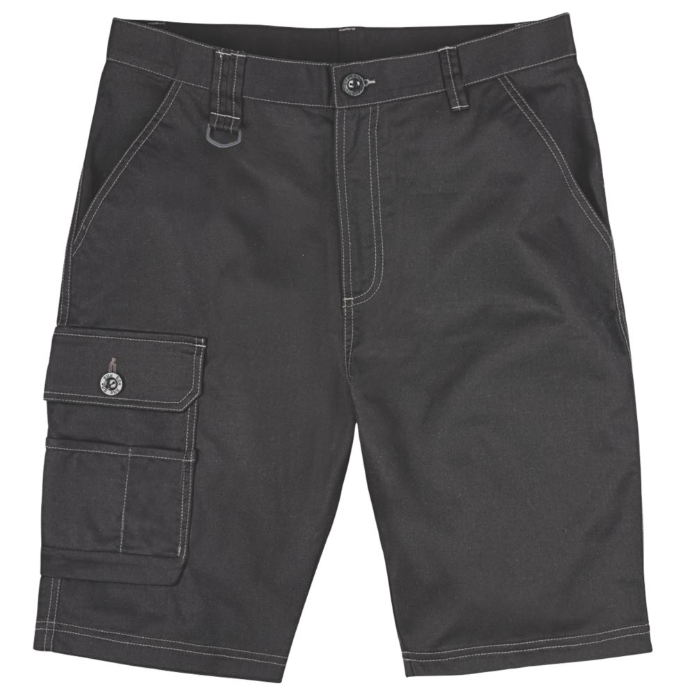 "Site Setter Work Shorts Black 36"" W"