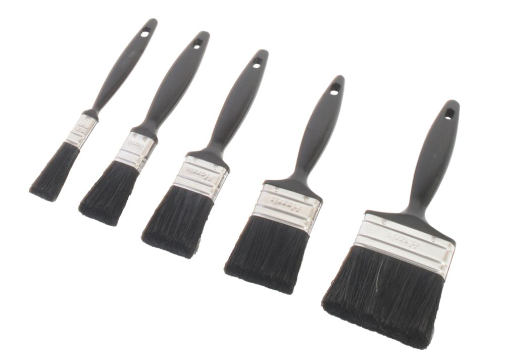 Harris Taskmaster Mixed Bristle Paintbrushes 5 Piece Set