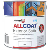 Zinsser All Coat Exterior Paint White 2.5Ltr