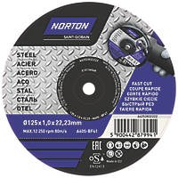 Norton Cutting Discs 125 x 1 x 22.23mm