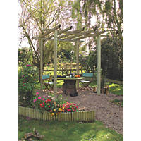 Grange Traditional Pergola  2.7 x 2.7 x 2.7m Pressure Treated Green Timber