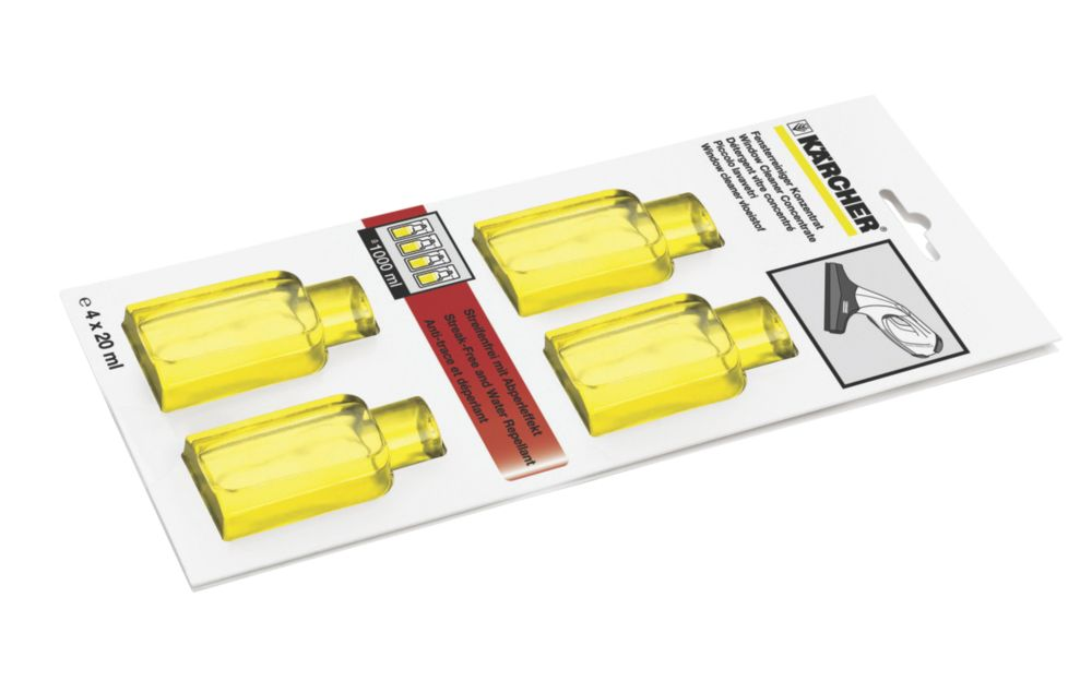 Karcher Glass Cleaning Solution 4 x 20ml Sachets