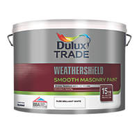 Dulux Trade Smooth Masonry Paint Pure Brilliant White 10Ltr
