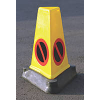 "JSP Triangular Mk4 ""No Waiting"" Traffic Cones 710mm 3 Pack"