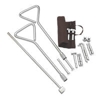 Universal Manhole Key Kit with Interchangeable Ends 520mm Pack of 2