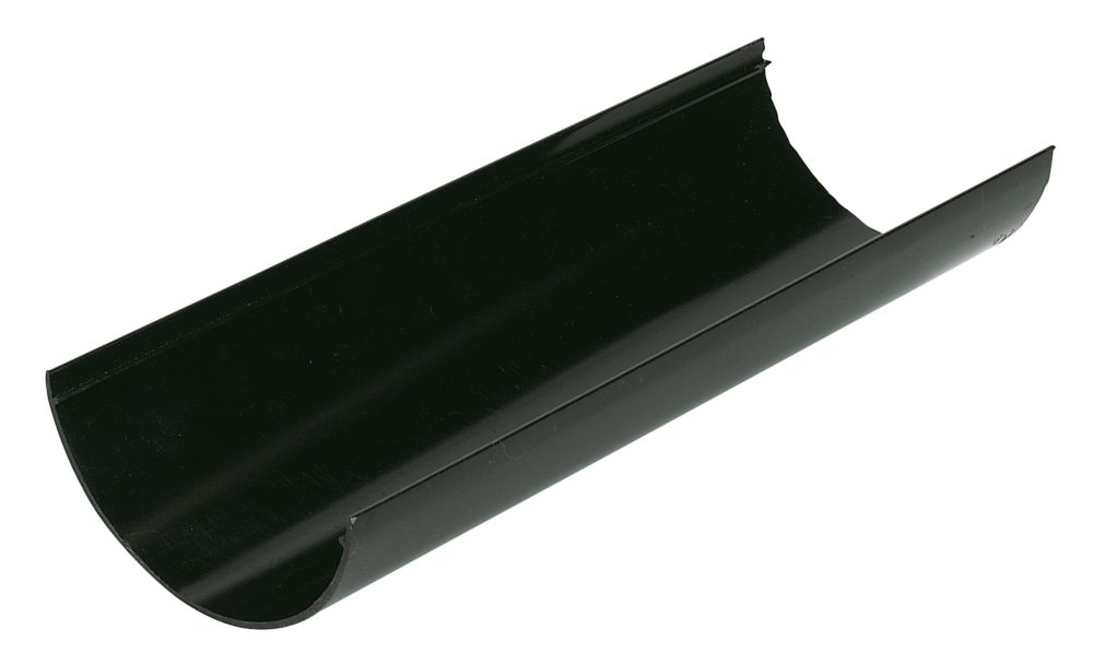 Half Round Gutter Black 112mm Pack of 6