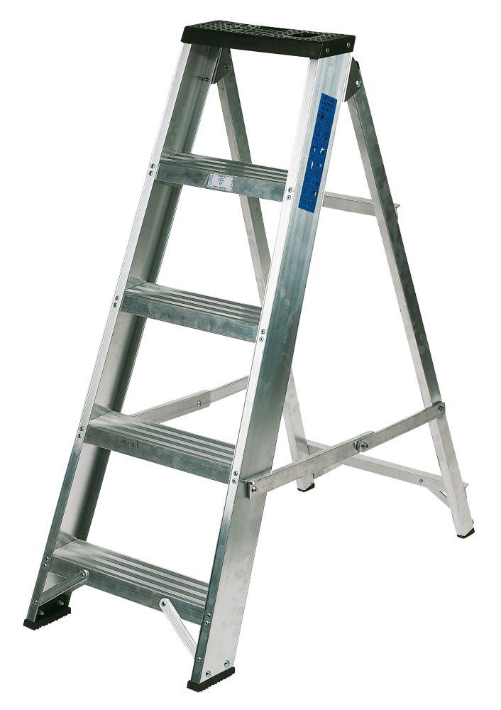 Lyte BSBB5 Swingback Builders Step Ladder Aluminium 5-Tread
