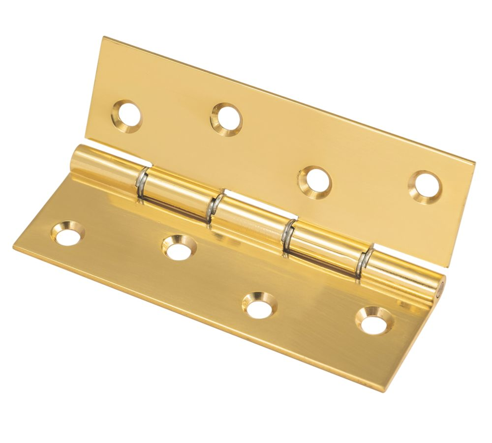 Washered Hinge Polished Brass 102 x 67mm 1Pr