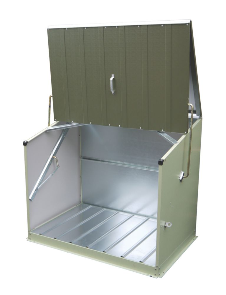 Trimetals Stowaway Single-Door Pent Store 1.3 x 0.8 x 1.1m