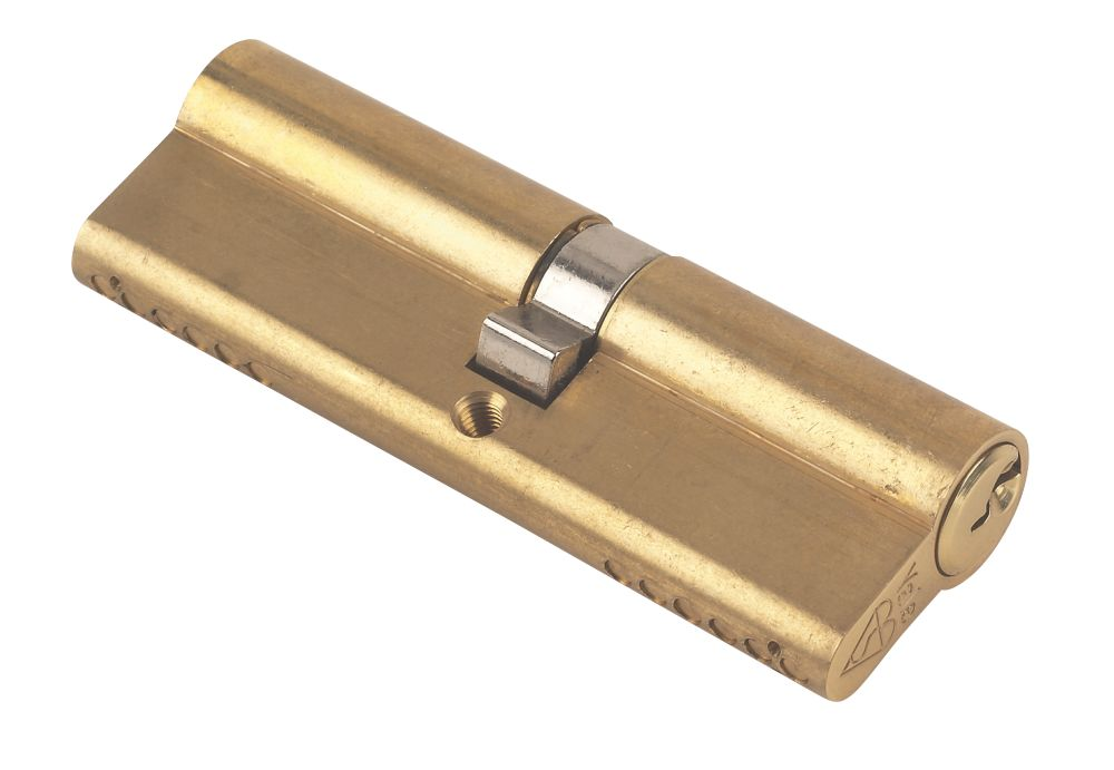 Yale KM Series Euro Double Cylinder Lock 45-50 (95mm) Polished Brass