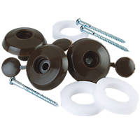 Corotherm Fixing Buttons Brown 10 Pack
