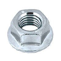 Easyfix Flange Head Nuts Bright Zinc-Plated Carbon Steel M10 100 Pack