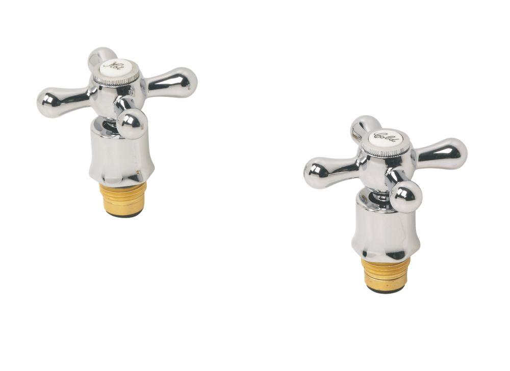 Swirl Traditional Bath Tap Reviver Kit Chrome Pair