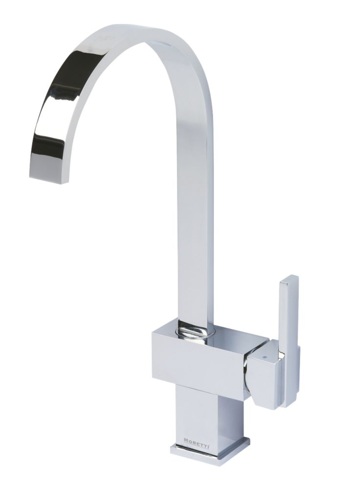 Moretti Domino Mono Mixer Kitchen Tap Chrome