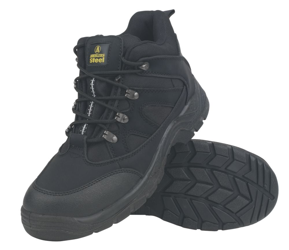 Amblers Steel Lightweight Hiker Safety Boots Black Size 8