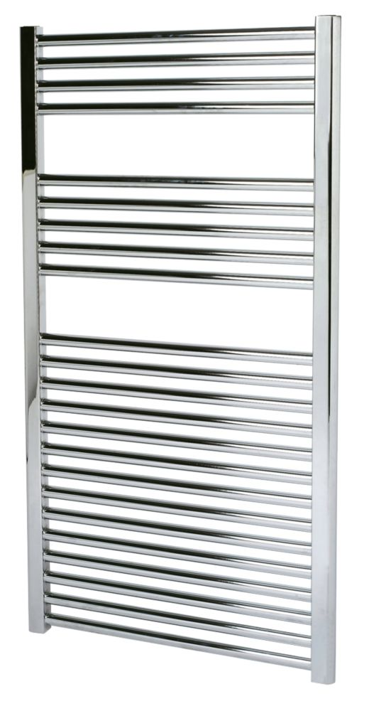 Kudox Flat Towel Radiator Chrome 600 x 1100mm 412W 1406Btu