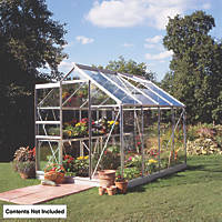 Halls Popular Framed Greenhouse Aluminium 6' x 8'