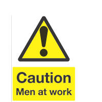 """Caution Men At Work"" Sign 300 x 500mm"