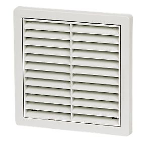 Manrose Fixed Louvre Vent White 125 X 125mm Air Vents