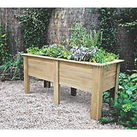 Forest Rectangular Deep Root Planter Natural Wood 1800 x 700 x 798mm
