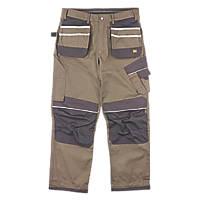 """Hyena Snowdon Work Trousers Brown/Grey 36"""" W 32/34"""" L"""