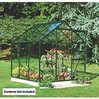 "Halls Popular Framed Greenhouse Green 5' 10"" x 5' 10"""