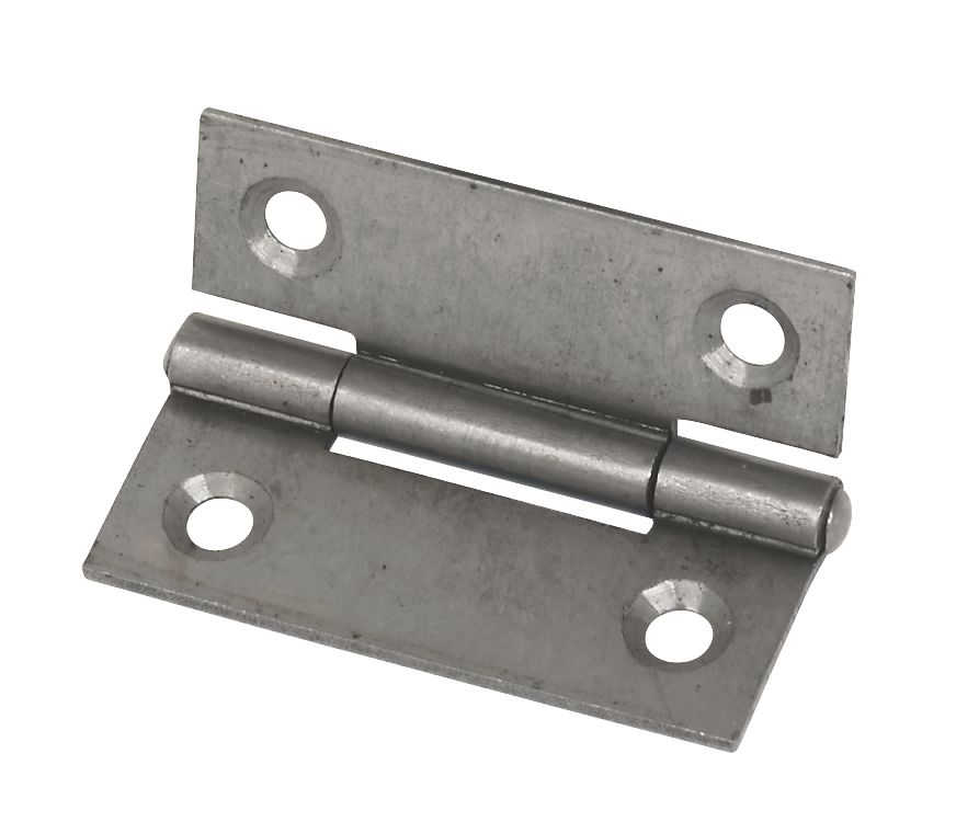 Steel Fixed Pin Hinge Self Colour 50mm Pack of 2